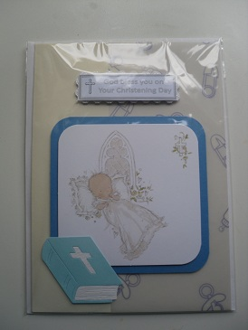 Handmade Christening Card