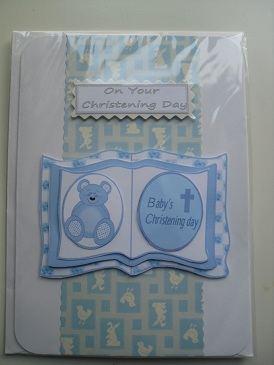 Beautiful Handmade Christening Card