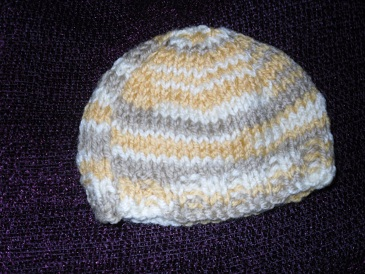 Handknitted Premature Baby Hat 3-5lb