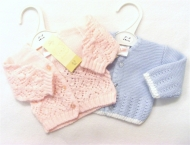 Premature baby cardigans, soft and cosy in a variety of styles.