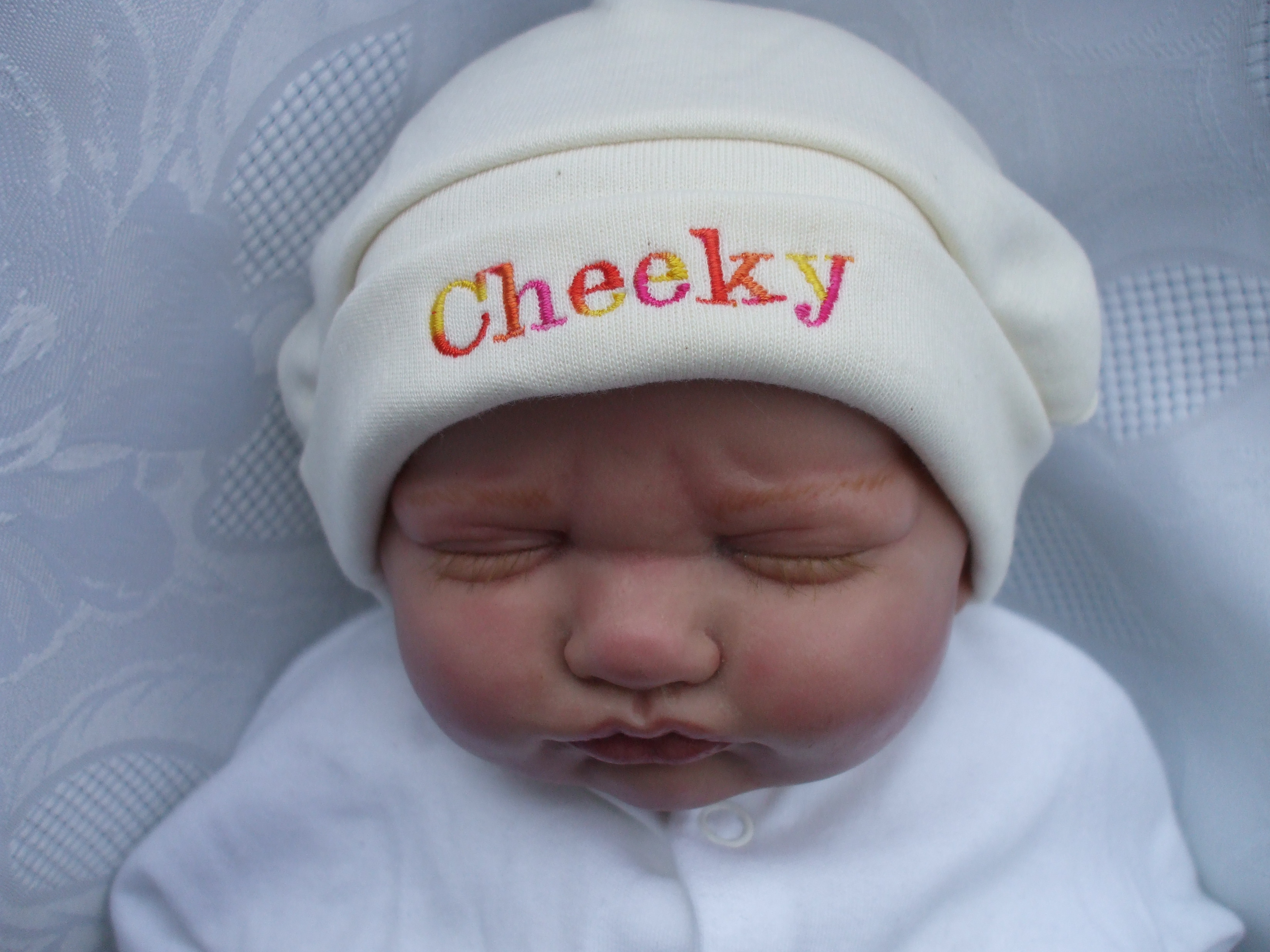 Newborn Slogan Hat CHEEKY