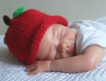 Red Apple Hand knitted Baby Hat All Sizes