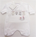8-10lbs Newborn baby 'Handle with Care' Sleepsuit