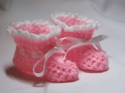 Posh Pink Premature Baby Booties