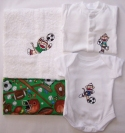 Early Baby Sock Monkey Footballer Gift Set size 5-8lbs