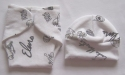 NICU Premature Baby Nappy Wrap & Hat set